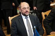 Nobel Peace Prize winner Martin Schulz  at the Norwegian Parliament.