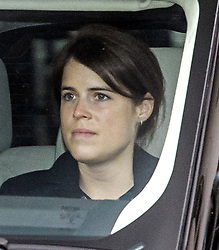 © Licensed to London News Pictures. 13/01/2020. London, UK. PRINCESS EUGINIE is seen leaving Kensington Palace in London. Queen Elizabeth II is due to hold a summit meeting with senior members of the Royal family at Sandringham later, following a recent announcement that Prince Harry and Megan, The Duke and Duchess of Sussex, will be stepping back from official Royal duty and spending more time abroad. Photo credit: Ben Cawthra/LNP