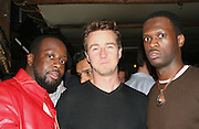 **EXCLUSIVE**.Wyclef Jean, Ed Norton & Pras Michel.Nightclub Impresario, Joel Rousseau, hosts Pras Michelís of the Fugees, 34th Birthday Party .Cain Nightclub.Friday, October 20, 2006 .New York City, NY, USA.Photo By Selma Fonseca/ Celebrityvibe/Bauergriffin.To license this image call (212) 410 5354 or;.Email: celebrityvibe@gmail.com; .Website: http://www.bauergriffin.com. ....