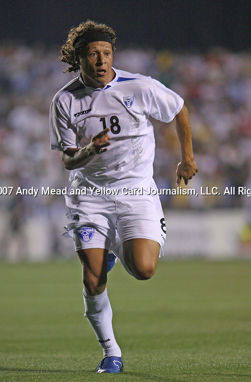 Honduras's Jairo Martinez on Tuesday, March 27th, 2007 at SAS Stadium in Cary, North Carolina. The Honduras Men's National Team defeated El Salvador 2-0 in a men's international friendly.
