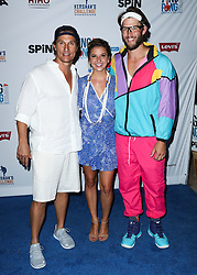 LOS ANGELES, CA, USA - AUGUST 23: 6th Annual PingPong4Purpose held at Dodger Stadium on August 23, 2018 in Los Angeles, California, United States. 23 Aug 2018 Pictured: Matthew McConaughey, Ellen Kershaw, Clayton Kershaw. Photo credit: Xavier Collin/Image Press Agency / MEGA TheMegaAgency.com +1 888 505 6342