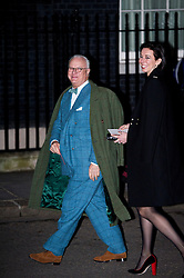 © London News Pictures. 15/02/2013. London, UK.  Shoe designer Manolo Blahnik arriving at 10 Downing Street for a London Fashion Week launch party hosted by Samantha Cameron on February 15, 2013. Photo credit : Ben Cawthra/LNP