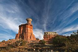 Palo Duro Canyon Lighthouse Rock, Canyon,Texas