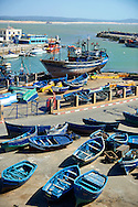 fishing boats of thye port of Essaouira, Morocco .<br /> <br /> Visit our MOROCCO HISTORIC PLAXES PHOTO COLLECTIONS for more   photos  to download or buy as prints https://funkystock.photoshelter.com/gallery-collection/Morocco-Pictures-Photos-and-Images/C0000ds6t1_cvhPo