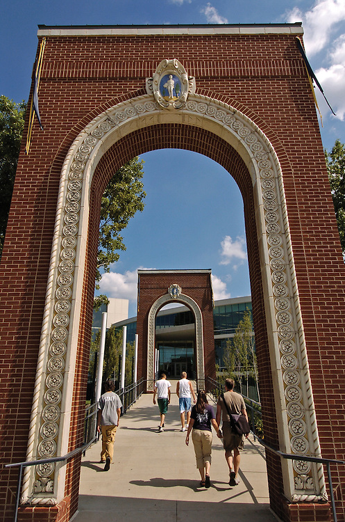 Campus arches welcoming students and guests to The University of Akron