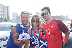 September 1, 2017 - Harrison, NJ, USA - Harrison, N.J. - Friday September 01, 2017: USA supporters during a 2017 FIFA World Cup Qualifying (WCQ) round match between the men's national teams of the United States (USA) and Costa Rica (CRC) at Red Bull Arena. (Credit Image: © Howard Smith/ISIPhotos via ZUMA Wire)