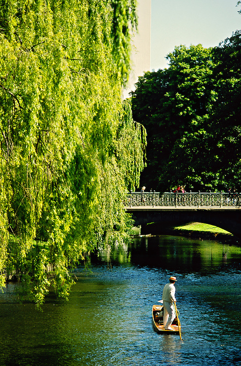 Punting on the Avon River, Christchurch, New Zealand