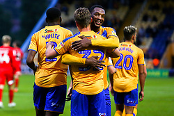 Danny Rose of Mansfield Town celebrates his second goal with Krystian Pearce of Mansfield Town - Mandatory by-line: Ryan Crockett/JMP - 20/08/2019 - FOOTBALL - One Call Stadium - Mansfield, England - Mansfield Town v Leyton Orient - Sky Bet League Two