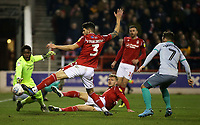 Nottingham Forest players try in vain to stop Joe Worrall own goal. (3-2)<br /> <br /> Photographer David Shipman/CameraSport<br /> <br /> The EFL Sky Bet Championship - Nottingham Forest v Blackburn Rovers - Wednesday 1st January 2020 - The City Ground - Nottingham <br /> <br /> World Copyright © 2020 CameraSport. All rights reserved. 43 Linden Ave. Countesthorpe. Leicester. England. LE8 5PG - Tel: +44 (0) 116 277 4147 - admin@camerasport.com - www.camerasport.com
