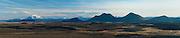 Panorama towards Modradalur and Mount Heidubreid in northeast Iceland (digital composite)