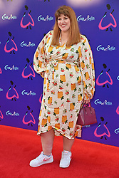 © Licensed to London News Pictures. 25/08/2021. London, UK. JENNY RYAN arrives for the gala performance of Andrew Lloyd Webber's Cinderella showing at the Gillian Theatre, Dury Lane. Photo credit: Ray Tang/LNP