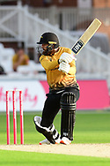 Arron Lilley of Leicestershireduring the Vitality T20 Blast North Group match between Nottinghamshire County Cricket Club and Leicestershire County Cricket Club at Trent Bridge, Nottingham, United Kingdom on 4 September 2020.