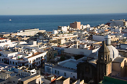 View of Las Palmas from the cathedral in the Canary Islands,