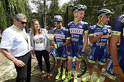 July 21, 2017 - Embrun / Salon-De-Provence, France - SALON-DE-PROVENCE, FRANCE - JULY 21 : Eddy Merckx & Justine Henin with team Wanty-Groupe Gobert  during stage 19 of the 104th edition of the 2017 Tour de France cycling race, a stage of 222.5 kms between Embrun and Salon-De-Provence on July 21, 2017 in Salon-De-Provence, France, 21/07/17 (Credit Image: © Panoramic via ZUMA Press)