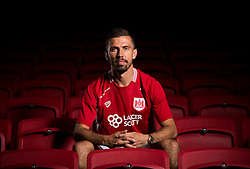 Gary O'Neil poses at Ashton Gate Stadium after joining Bristol City from Norwich City - Mandatory by-line: Joe Meredith/JMP - 08/06/2016 - FOOTBALL - Ashton Gate Stadium - Bristol, England - Bristol City New Signings