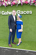29/07/2017  Minister Sean Kyne and his wife Avril Horan onthe third day of the Galway Races summer Festival  Plate day .   Photo:Andrew Downes, xposure