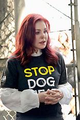 Priscilla Presley protests against Korean dog trade - 17 July 2018
