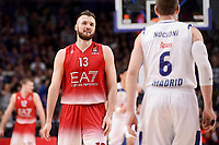Real Madrid's Andres Nocioni and EA7 Emporio Armani Milan's Milan Macvan during Turkish Airlines Euroleage match between Real Madrid and EA7 Emporio Armani Milan at Wizink Center in Madrid, Spain. January 27, 2017. (ALTERPHOTOS/BorjaB.Hojas)