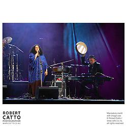 Lo'Jo perform at WOMAD music festival in New Plymouth, Taranaki New Zealand.