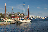 Boats in harbor of Camden Maine USA
