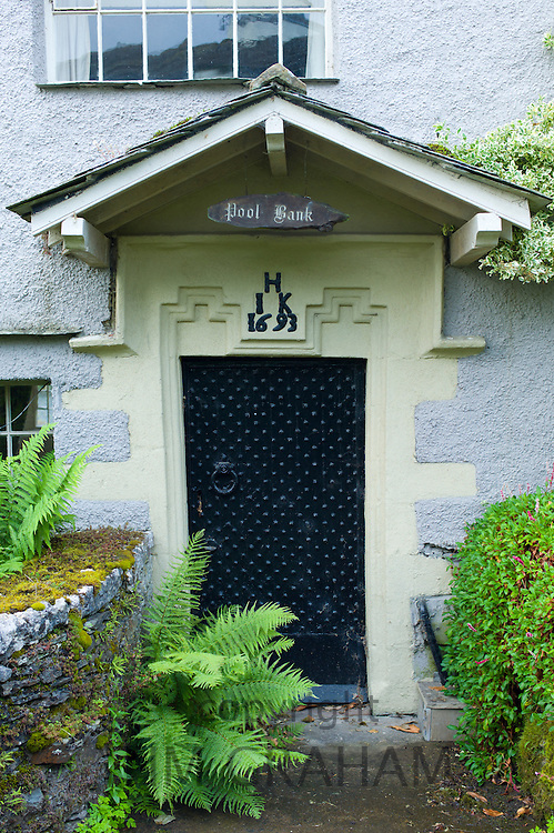17th Century cottage called Pool Bank, built 1693, near Kendal in the Lake District National Park, Cumbria, UK