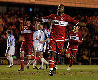 Photo: Jed Wee.<br /> Middlesbrough v Nuneaton Borough. The FA Cup. 17/01/2006.<br /> <br /> Middlesbrough's Yakubu celebrates after scoring.