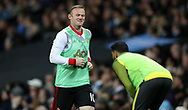 Wayne Rooney of Manchester United warms up during the English Premier League match at The Etihad Stadium, Manchester. Picture date: April 27th, 2016. Photo credit should read: Lynne Cameron/Sportimage