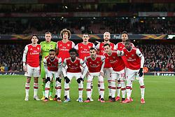 Arsenal squad photo pre match - Mandatory by-line: Arron Gent/JMP - 27/02/2020 - FOOTBALL - Emirates Stadium - London, England - Arsenal v Olympiacos - UEFA Europa League Round of 32 second leg