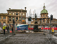 Work on extending tram system, Edinburgh, 5 December 2019