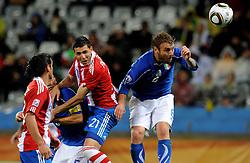 14.06.2010, Cape Town Stadium, Kapstadt, RSA, FIFA WM 2010, Italien vs Paraguay im Bild Antolin Alcaraz 's 1-0 Führungstor für Paraguay, EXPA Pictures © 2010, PhotoCredit: EXPA/ InsideFoto/ G. Perottino, ATTENTION! FOR AUSTRIA AND SLOVENIA ONLY!!! / SPORTIDA PHOTO AGENCY