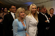 Liz Brewer and Heather Bird, Conservative Party Chairmen's Summer reception, House of Commons Terace, 7 July 2004. SUPPLIED FOR ONE-TIME USE ONLY-DO NOT ARCHIVE. © Copyright Photograph by Dafydd Jones 66 Stockwell Park Rd. London SW9 0DA Tel 020 7733 0108 www.dafjones.com