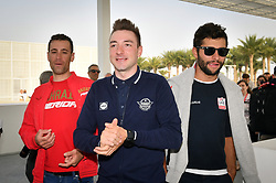 February 23, 2019 - Abu Dhabi - Foto LaPresse - Massimo Paolone.23 Febbraio 2019 Abu Dhabi (Emirati Arabi Uniti).Sport Ciclismo.UAE Tour 2019 - Foto Tor Riders.Nella foto: Vincenzo Nibali, Elia Viviani, Fernando Gaviria..Photo LaPresse - Massimo Paolone.February 23, 2019 Abu Dhabi (United Arab Emirates) .Sport Cycling.UAE Tour 2019 - Top rider photo call.In the pic: Vincenzo Nibali, Elia Viviani, Fernando Gaviria (Credit Image: © Massimo Paolone/Lapresse via ZUMA Press)