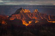 Grand Canyon, North Rim, Zoraster, dramatic sunset light, GCNP, AZ
