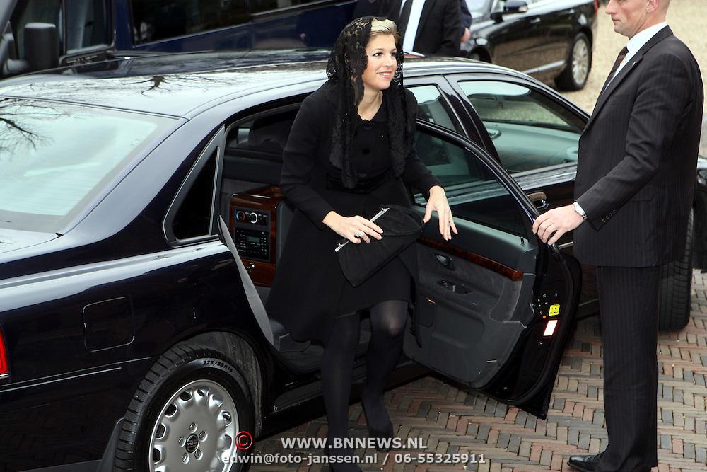 NLD/Wassenaar/20080403 - Herdenkingsdienst Erik Hazelhoff Roelfzema, prins Willem - Alexander en partner prinses Maxima