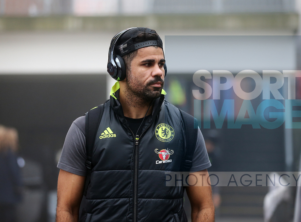 Chelsea's Diego Costa arrives for the match during the Premier League match at Selhurst Park Stadium, London. Picture date December 17th, 2016 Pic David Klein/Sportimage