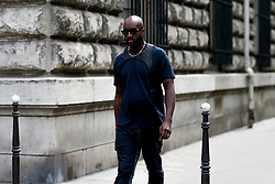 Street style, Virgil Abloh arriving at Dior Spring-Summer 2019 menswear show held at Garde Republicaine, in Paris, France, on June 23rd, 2018. Photo by Marie-Paola Bertrand-Hillion/ABACAPRESS.COM