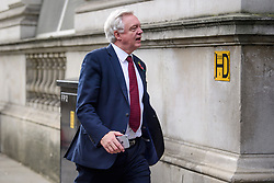 © Licensed to London News Pictures. 02/11/2017. London, UK. Brexit secretary DAVID DAVIS MP seen arriving on Downing Street on November 2, 2017. Photo credit: London News Pictures