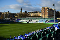 A general view of the Recreation Ground prior to the match - Mandatory byline: Patrick Khachfe/JMP - 07966 386802 - 12/12/2020 - RUGBY UNION - The Recreation Ground - Bath, England - Bath Rugby v Scarlets - Heineken Champions Cup