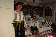 Romania. Putna . inside traditional house  Putna        / interieur maison traditionelle  Putna  Roumanie
