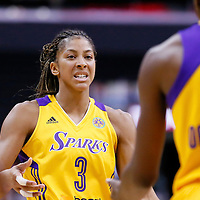 24 July 2014: Los Angeles Sparks forward/center Candace Parker (3) is seen during the Phoenix Mercury 93-73 victory over the Los Angeles Sparks, at the Staples Center, Los Angeles, California, USA.
