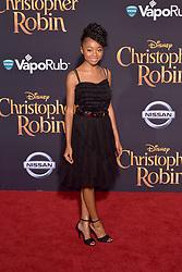 July 30, 2018 - Burbank, Kalifornien, USA - Skai Jackson bei der Premiere des Kinofilms 'Christopher Robin' in den Walt Disney Studios. Burbank, 30.07.2018 (Credit Image: © Future-Image via ZUMA Press)