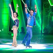 NLD/Hilversum/20130126 - 5e Liveshow Sterren Dansen op het IJs 2013, Christophe Haddad en schaatspartner Lauren Farr