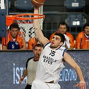 Anadolu Efes's Estaban Batista during their Turkish Basketball League match Anadolu Efes between Mersin BSB at Sinan Erdem Arena in Istanbul, Turkey, Saturday, January 14, 2012. Photo by TURKPIX