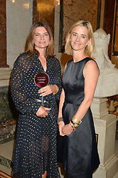 Left to right, NATALIE MASSENET and BROOKE BARZUN at the LDNY Fashion Show and WIE Award Gala sponsored by Maserati held at The Goldsmith's Hall, Foster Lane, City of London on 27th April 2015.
