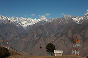 Snow has yet to reach the North Indian ski resort of Auli on 29th December 2008. Auli is a small ski resort near Joshimath in the Himalayan state of Uttarakhand in Northern India.