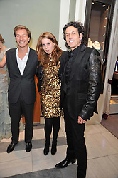 Left to right, DAVE CLARK, PRINCESS BEATRICE OF YORK and STEPHEN WEBSTER at a party to launch the Georgina Chapman collection for Garrard held at Garrard, Albermarle Street, London on 4th November 2009.