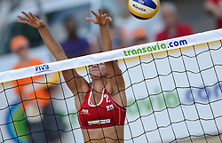 16-07-2014 NED: FIVB Grand Slam Beach Volleybal, Apeldoorn<br /> Poule fase groep G vrouwen - Ekaterina Syrtseva (2) RUS