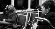 12/22/06 Chicago, IL Downtown Chicago subway train..(Chris Machian/ Prairie Pixel Group)..