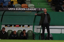 December 13, 2018 - Lisbon, Portugal - Sporting's head coach Marcel Keizer from Netherlands gestures during the UEFA Europa League Group E football match Sporting CP vs FC Vorskla Poltava at Alvalade stadium in Lisbon, Portugal on December 13, 2018 (Credit Image: © Pedro Fiuza/ZUMA Wire)