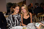 Paige Ryan and Amanda Hearst, supper at the Groucho club after Bryan Wallick debut concert at Wigmore Hall, 25/9/03 © Copyright Photograph by Dafydd Jones 66 Stockwell Park Rd. London SW9 0DA Tel 020 7733 0108 www.dafjones.com